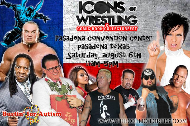Icons of Wrestling & Comic Book CollectorFest Event, Satuday, August 6, 2016, Pasadena, TX